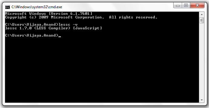 Testing compiler from command prompt