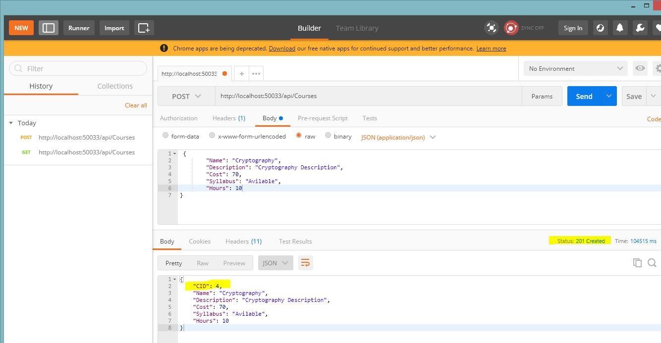 Web API Tutorial Part I